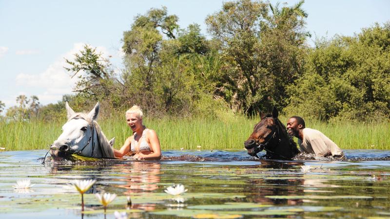 Botswana, Okawango Macatoo - stationär ridsafari