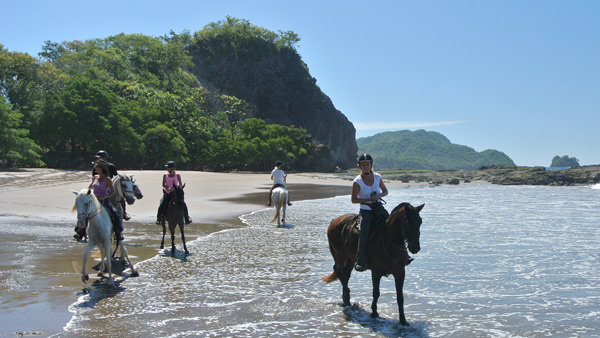 beach riding costa rica