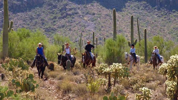 USA, Arizona - Cowboy i Vilda västern